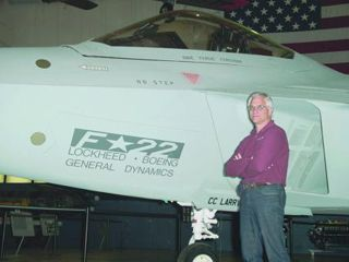 Mike Dennis F-22 Raptor Stealth Fighter prototype at the USAF Museum, Wright-Patterson AFB.
