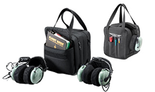 Double Headset Bag w/Checklist Book Pocket